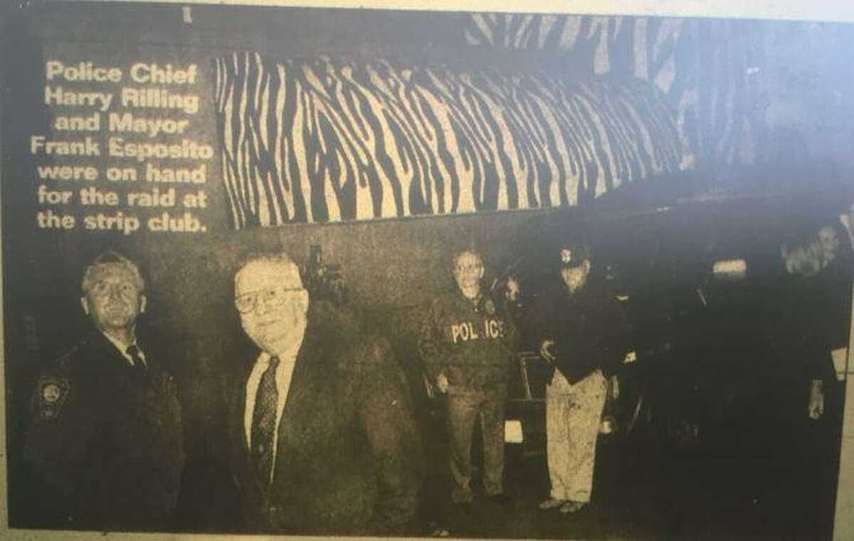 A screen grab from a photo taken Oct. 1, 1998 during a prostitution raid at the Zebra Club in Norwalk.