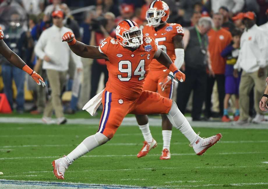 Clemson defensive tackle Carlos Watkins was picked by the Texans in the fourth round of the 2017 NFL draft. Photo: Norm Hall/Getty Images