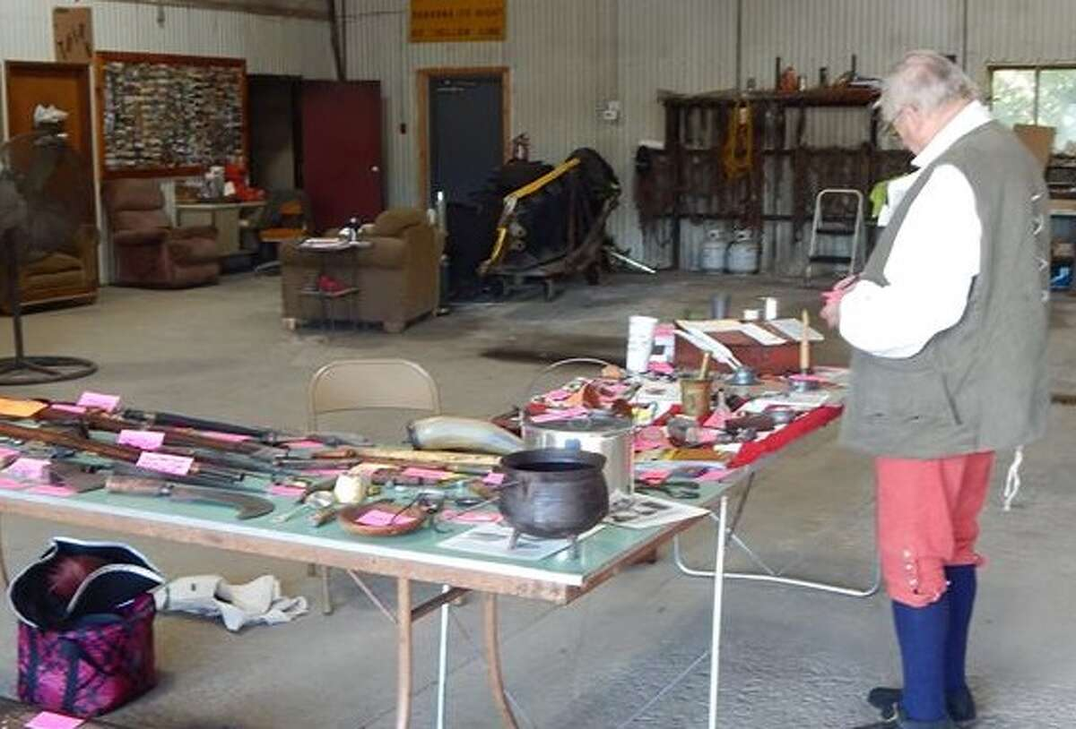 Fort Plain Museum Board of Trustee Peter Couser makes preparations during a previous Minden History Fair. (Photo submitted) ORG XMIT: drSlD0hyOlUGFpZu_Tlg