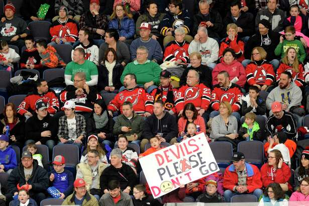 Fans watch the Albany Devils play the Rochester Americans during the second period of an AHL hockey game in Albany, N.Y., Saturday, Jan. 28, 2017. (Hans Pennink / Special to the Times Union) ORG XMIT: HP107
