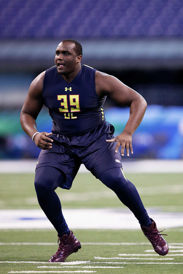 Offensive lineman Justin Senior of Mississippi State in action during the NFL Combine at Lucas Oil Stadium on March 3, 2017 in Indianapolis, Indiana. Photo: Joe Robbins/Getty Images