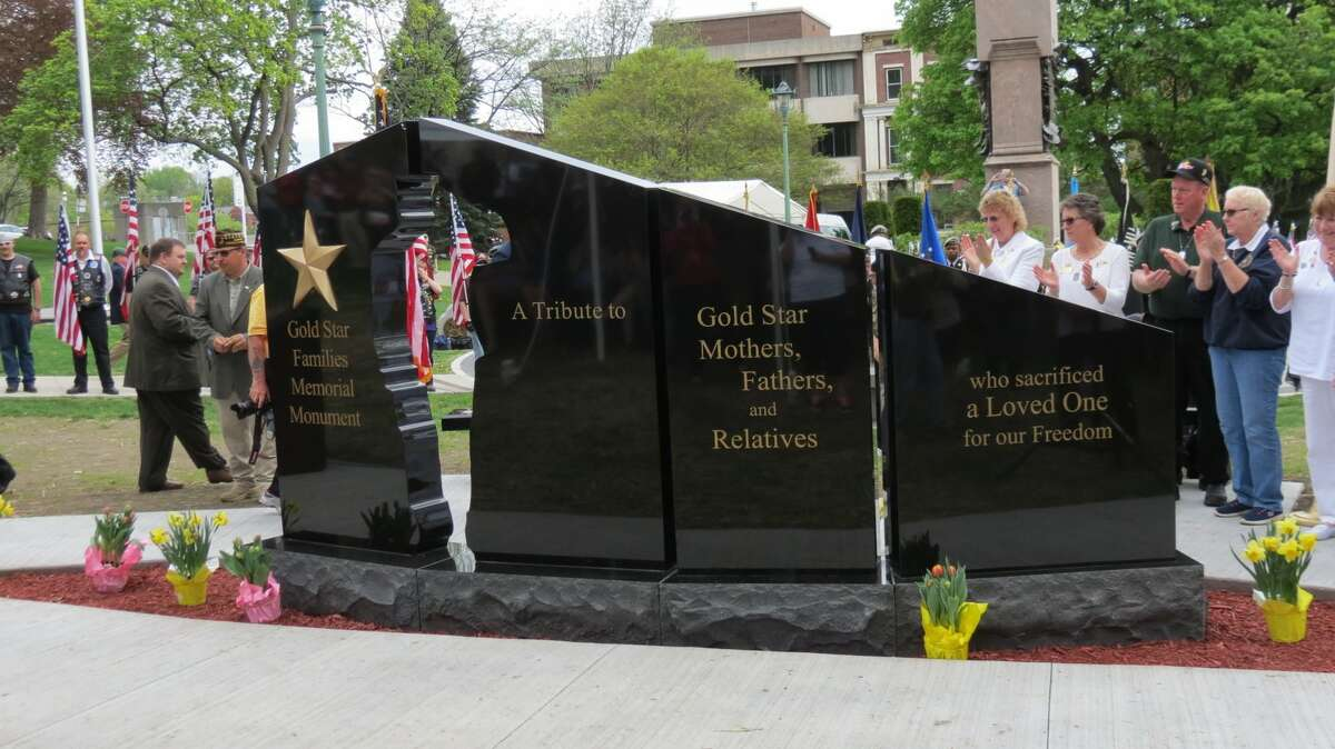 The Gold Star Families Monument was unveiled and dedicated in Lafayette Park in Albany, N.Y. on Saturday, April 29, 2017. (Thomas Heffernan Sr./Times Union)