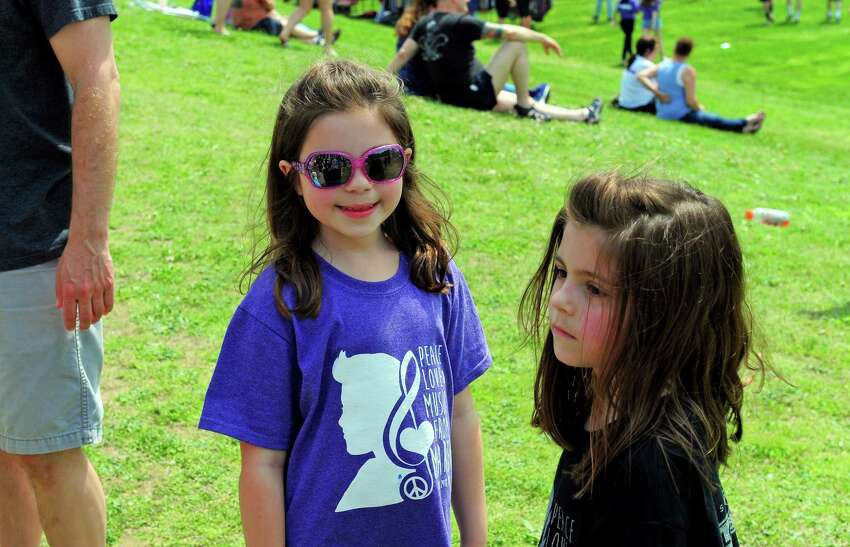 Jonathan Law High School holds its annual festival: Peace Love & Music From Maren on the school's grounds in Milford, Conn., on Saturday Apr. 29, 2017. The festival celebrates the life of Sanchez, a student at the school who was fatally stabbed the day of her junior prom on April 25,2014. She was 16 years old. Some of the events included a kickball tournament, live music throughout the day, a mural and artwork gallery, bounce house fun for the kids and even food trucks.