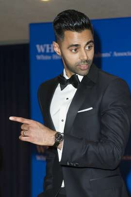 The Daily Show correspondent Hasan Minhaj arrives at attend the White House Correspondents' Dinner in Washington, Saturday, April 29, 2017. (AP Photo/Cliff Owen)