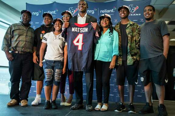 Deshaun Watson and his family used to live in housing projects in Georgia before moving into a Habitat for Humanity house in 2006.