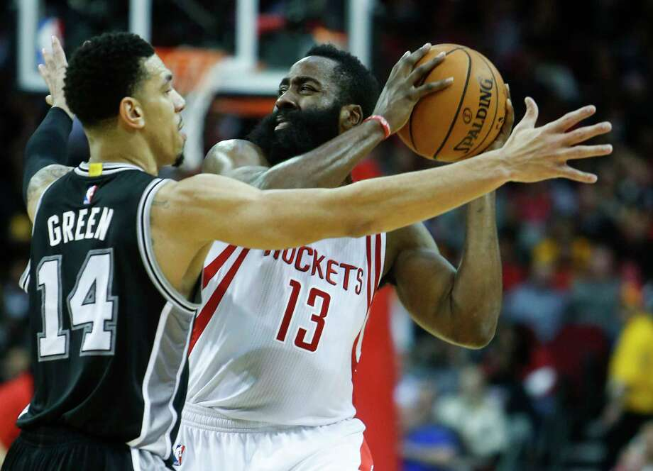 ROCKETS-SPURS MATCHUPGUARDS         The Spurs rarely make in-season trades, but apparently pulled off a steal since the end of the regular season, trading in an old Tony Parker for the Tony Parker of old. Parker was sensational in the Memphis series, averaging 16.3 points on 53.3 percent shooting. Danny Green continued to struggle, but his primary job will be to defend James Harden. Harden did not shoot well in the first round, but still effectively attacked the Oklahoma City defense, lived at the line and averaged 33.2 points per game. Pat Beverley was outstanding in the home games and averaged 11.6 points against the Thunder. His energy and toughness is hugely important and was missed in one of the losses to the Spurs he missed.Edge: Rockets. Harden will not have to dominate the series, but he might have to be unstoppable in a few games, especially in San Antonio.  Photo: Brett Coomer, Staff / © 2016 Houston Chronicle