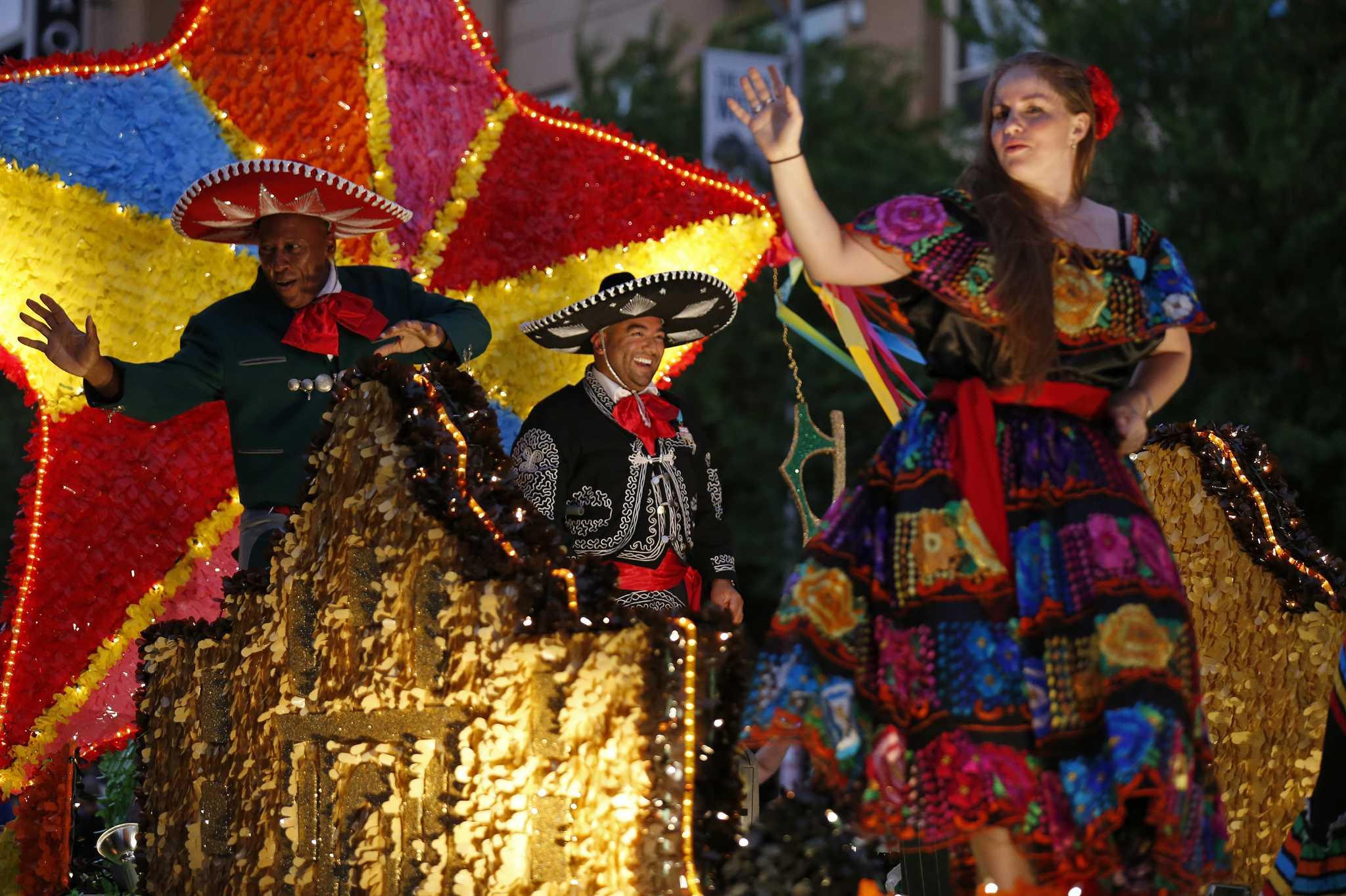 Fiesta Flambeau Parade Lights Up Downtown San Antonio