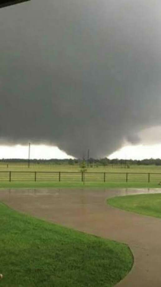 The Rowlett Police Department in the Dallas area posted a picture of the storm after its police and fire rescue units headed to Canton to help with clean-up efforts. Photo: Rowlett Police Department