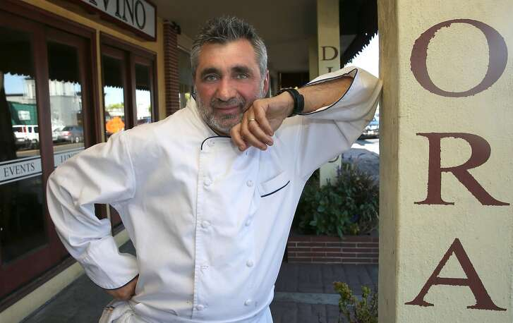 Chef Vincenzo Cucco at Divino on Friday, April 28, 2017, in Belmont, Calif.