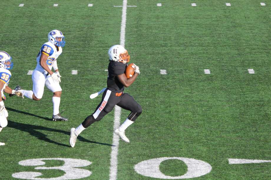 Seahawks seventh-round pick David Moore in action for East Central (Oklahoma) University. Photo: Gina Smith