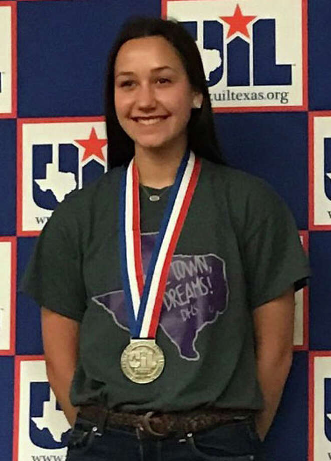 Abby Jane Howeth, a student at Dayton High School, placed second in the Feature Writing competition at State UIL Academic Meet. She is the first Dayton Bronco to place at the State meet since 2010. Photo: Submitted