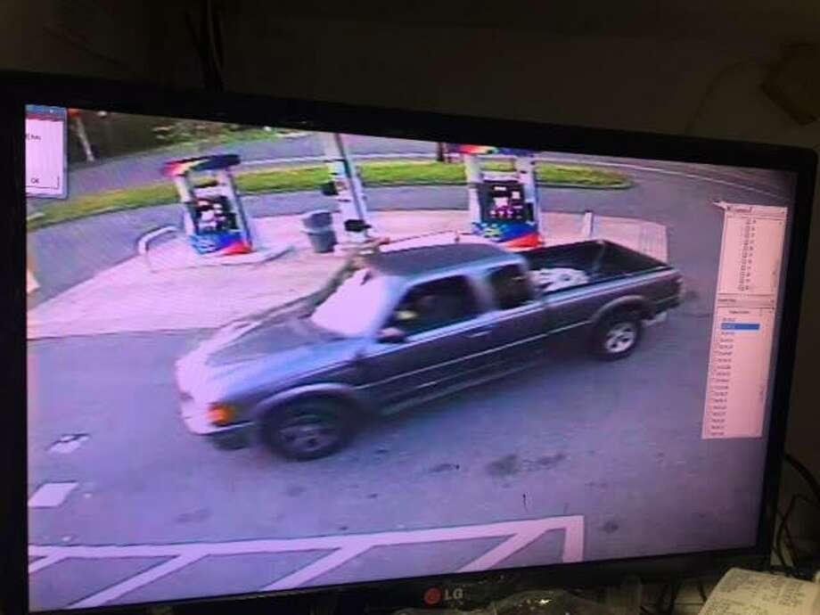 Connecticut State Police are seeking information on a tobacco robbery that took place at a gas station in Somers Sunday morning. The individuals involved were seem using two vehicles — a grey extra cab Ford Ranger with a dented front chrome bumper and a tan late 90's Toyota Camry with a sunroof and missing the front driver's hub cap. Photos courtesy of the Connecticut State Police. Photo: Contributed / Contributed