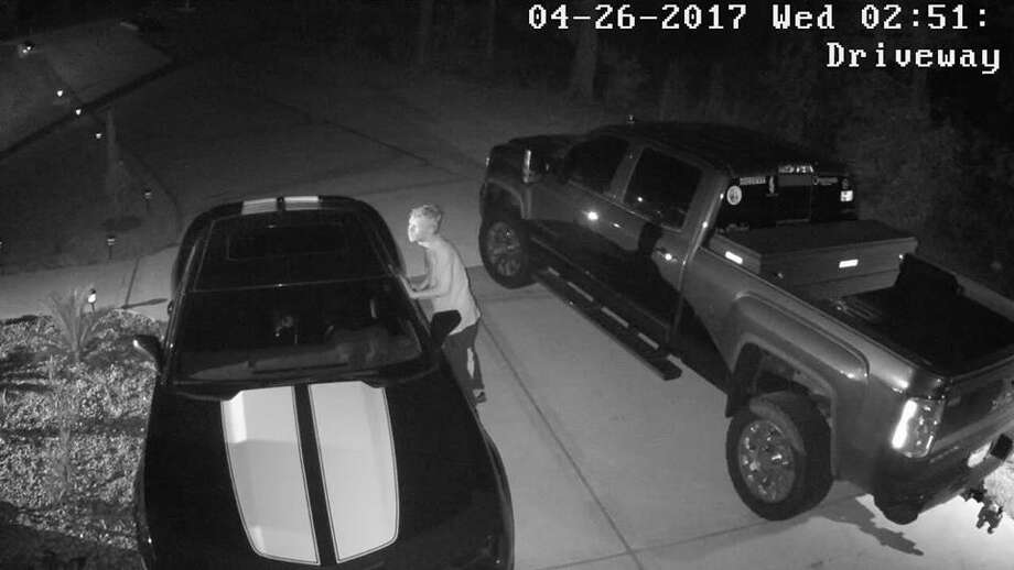 The Montgomery County Sheriff's Office is asking for the public's help in identifying an alleged car burglar caught on surveillance video on Wednesday, April 26, 2017. Photo: Montgomery County Sheriff's Office