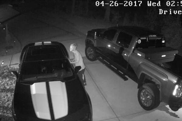 The Montgomery County Sheriff's Office is asking for the public's help in identifying an alleged car burglar caught on surveillance video on Wednesday, April 26, 2017.