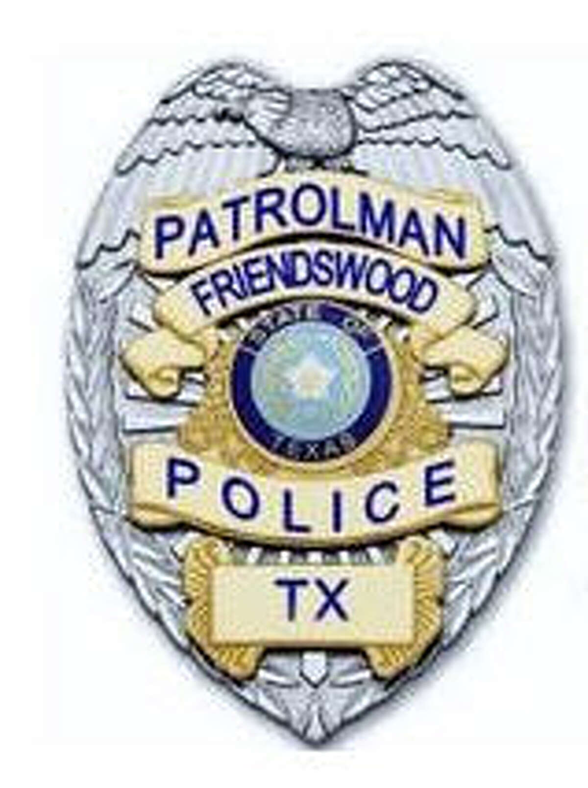 Friendswood Police Badge for weekly Friendswood crime column