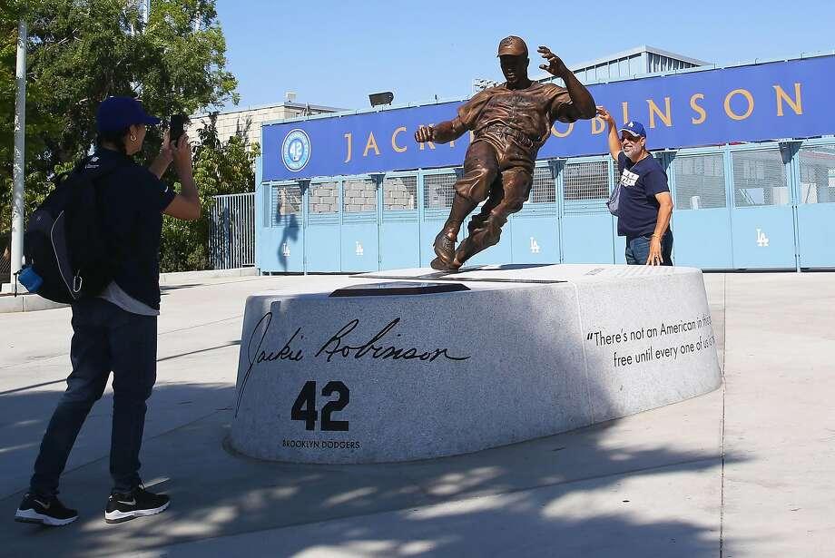Oakland sculptor's statue captures Jackie Robinson's fiery spirit ...