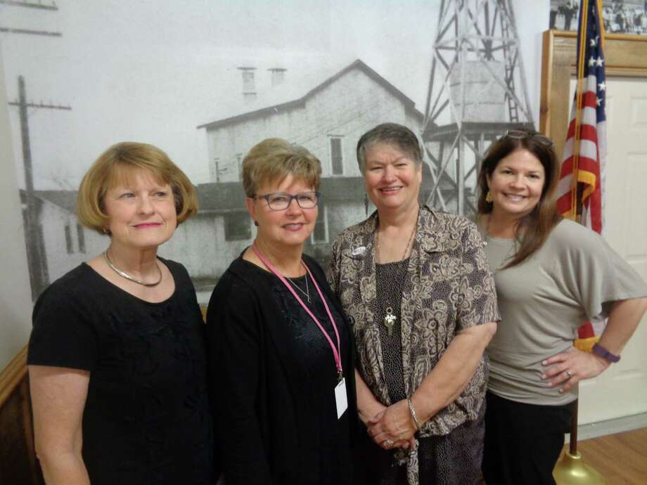 Cathy Harbor, Suzanne Hicks, Mary Ellen Conner and Caroline Wadzeck shared different aspects to Dayton's history at an April 24 meeting of the Dayton Historical Society. Photo: Submitted
