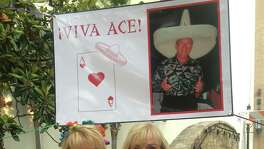 Amy Wood and her mother Joyce Tinch remember their beloved father and husband, respectively, Ace Tinch who loved Fiesta so much his memory has inspired continued Fiesta celebrations along the San Antonio River.