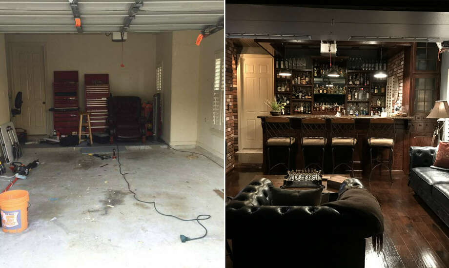 Houston man rehabs his garage to create an epic man cave for Single car garage man cave