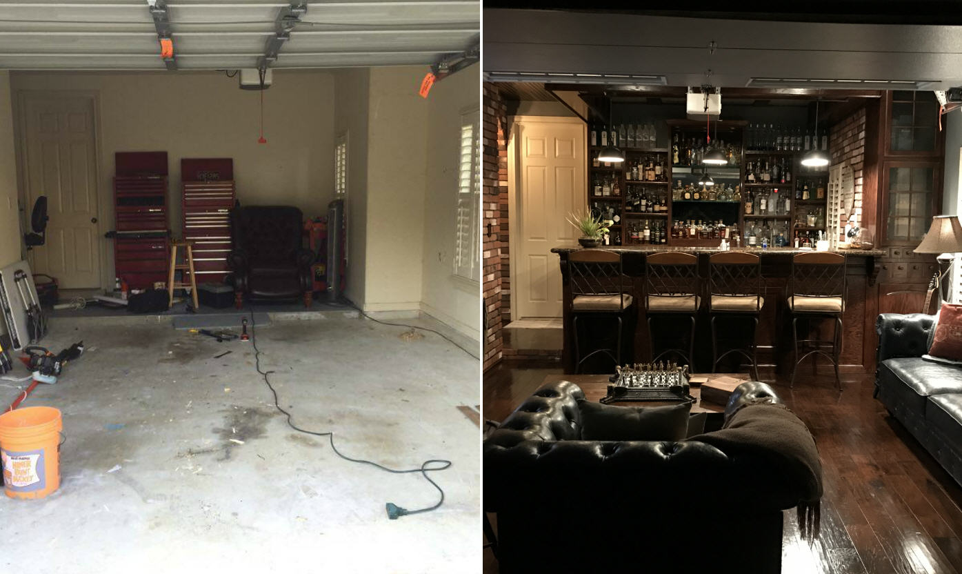 Houston man rehabs his garage to create an epic man cave for Garage ww auto