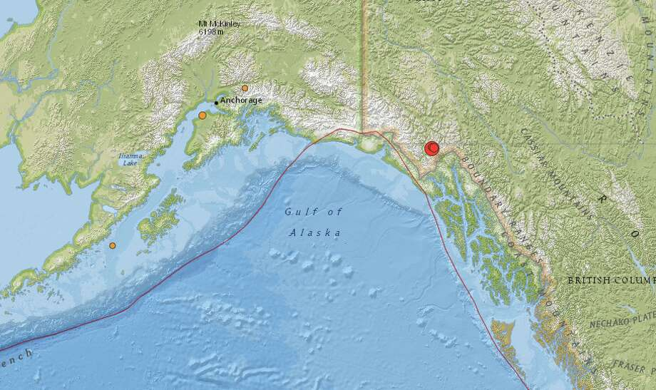 Large earthquake, aftershock rattle corner of Canada, Alaska