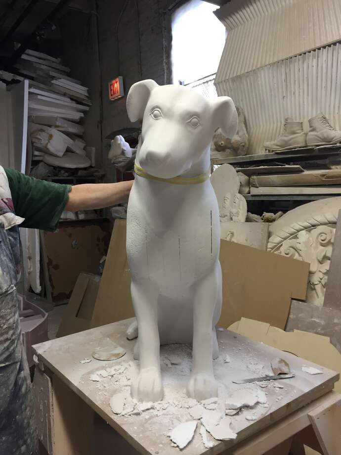 A mold of one of the 10 3-foot-tall Nipper sculptures that will be used in the Downtown is Pawsome art project. Keep clicking to see more examples of previous Albany BID public art projects. Photo: Albany BID