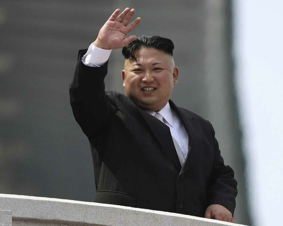 FILE - In this Saturday, April 15, 2017, file photo, North Korean leader Kim Jong Un waves during a military parade to celebrate the 105th birth anniversary of Kim Il Sung in Pyongyang, North Korea. A North Korean mid-range ballistic missile apparently failed shortly after launch Saturday, April 29, South Korea and the United States said, the third test-fire flop just this month but a clear message of defiance as a U.S. supercarrier conducts drills in nearby waters. (AP Photo/Wong Maye-E, File) Photo: Wong Maye-E, STF / Associated Press / Copyright 2017 The Associated Press. All rights reserved.