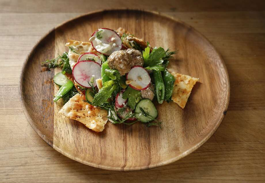 Lamb Meatball and Herb Salad Photo: Russell Yip, The Chronicle