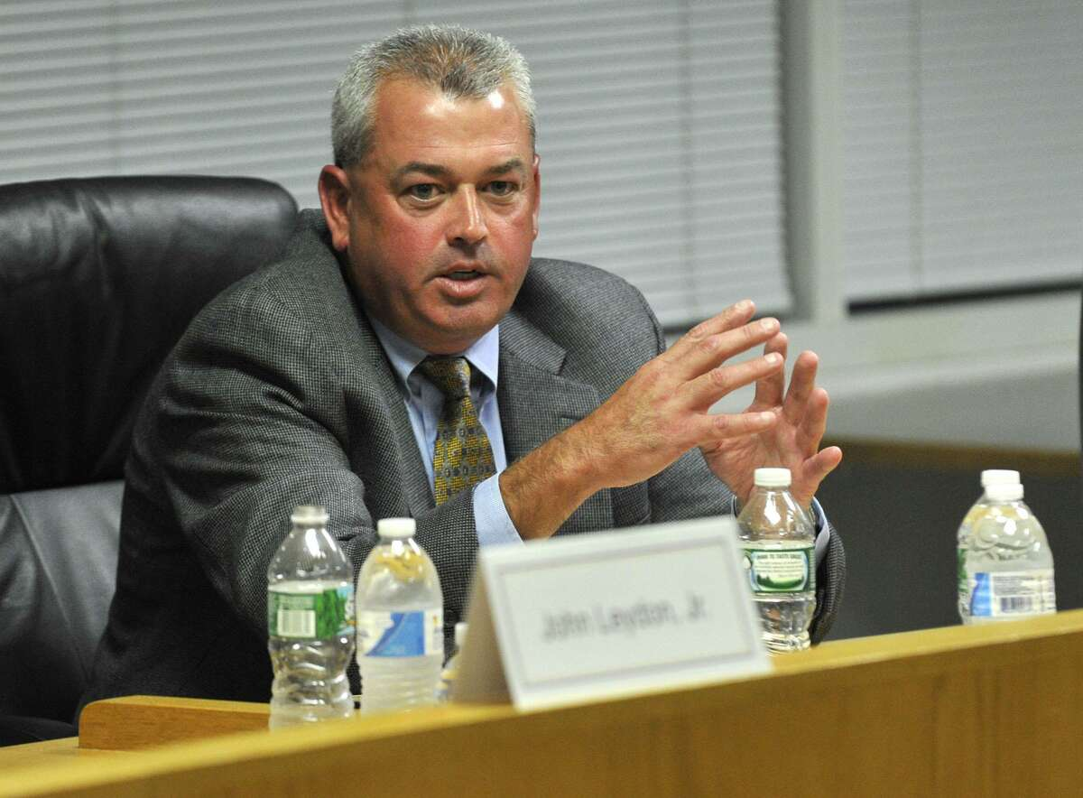 In this file photo, Richard Lyons speaks during the Parent-Teacher Council's Board of Education candidate forum at the Stamford Government Center.