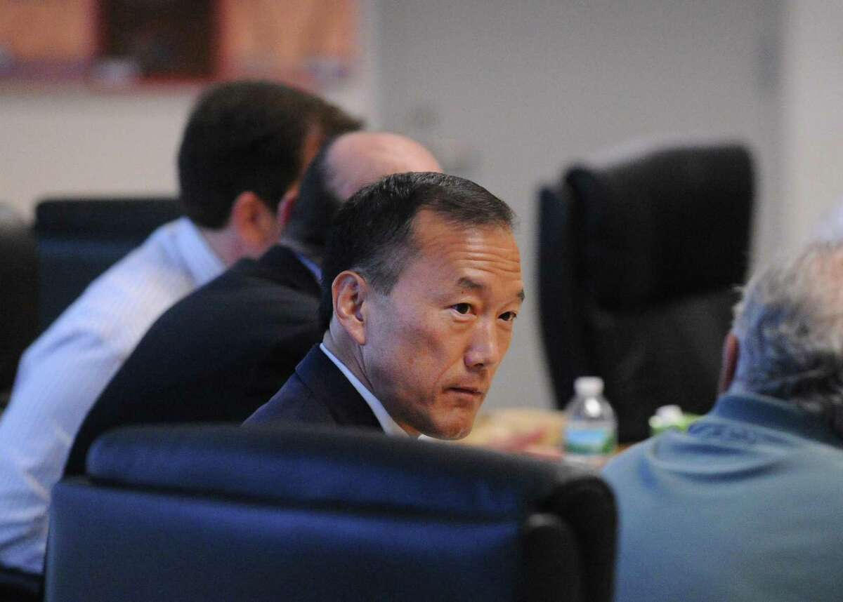 First Board of Education meeting with new Superintendent of the Stamford Public Schools, Earl Kim, at the Stamford Government Center, Conn., Tuesday night, July 26, 2016.