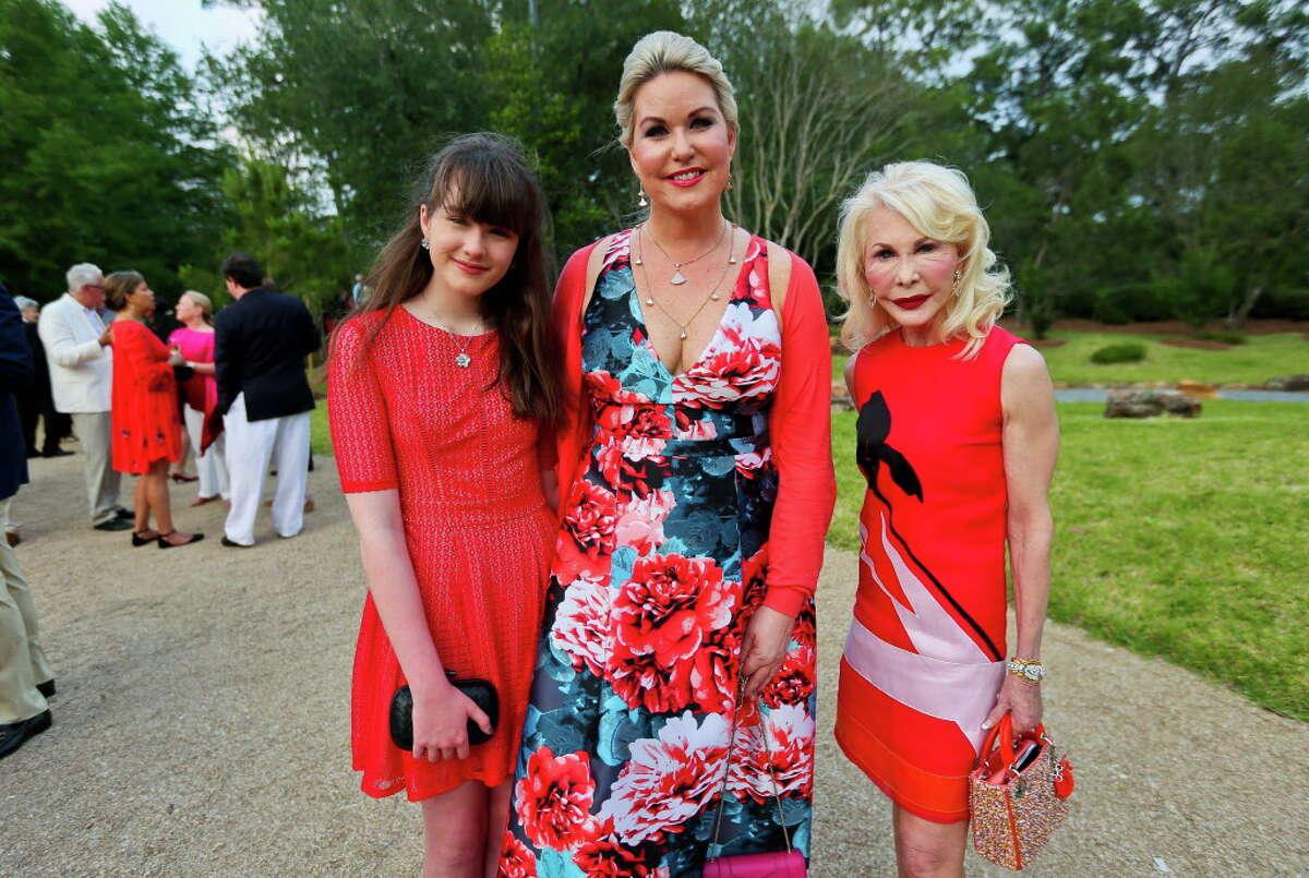Stephanie Von Stein, center, Victoria Von Stein, and Diane Lokey Farb at the