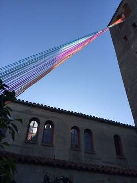 Sight of the Lorena Perez Villers' ribbons greeted guests at SFAI