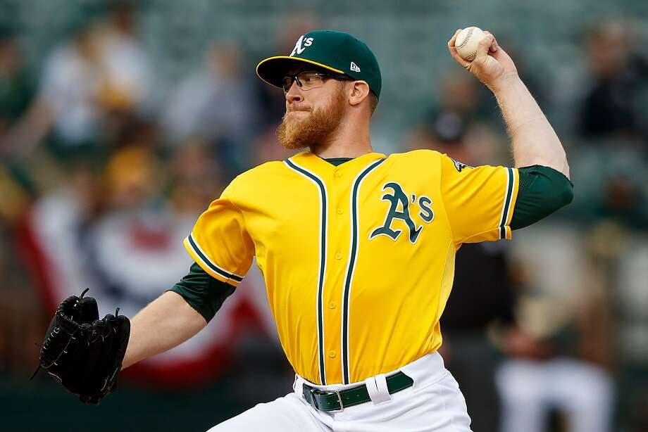OAKLAND, CA - APRIL 06:  Sean Doolittle #62 of the Oakland Athletics pitches against the Los Angeles Angels of Anaheim during the ninth inning at the Oakland Coliseum on April 6, 2017 in Oakland, California. The Oakland Athletics defeated the Los Angeles Angels of Anaheim 5-1. (Photo by Jason O. Watson/Getty Images) Photo: Jason O. Watson, Getty Images