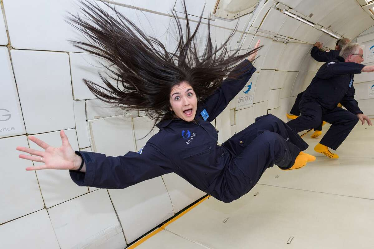 I found it was really hard to control my movements (and facial expressions) in zero gravity.