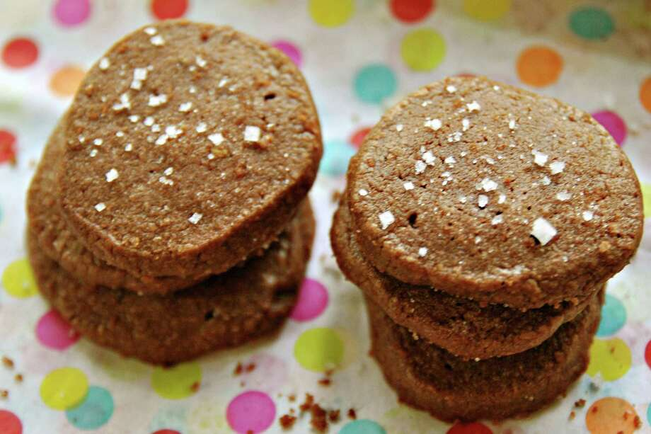 Chocolate, Salt and Pepper Sables will be gobbled up in no time. Photo: Gretchen McKay, MBR / Pittsburgh Post-Gazette