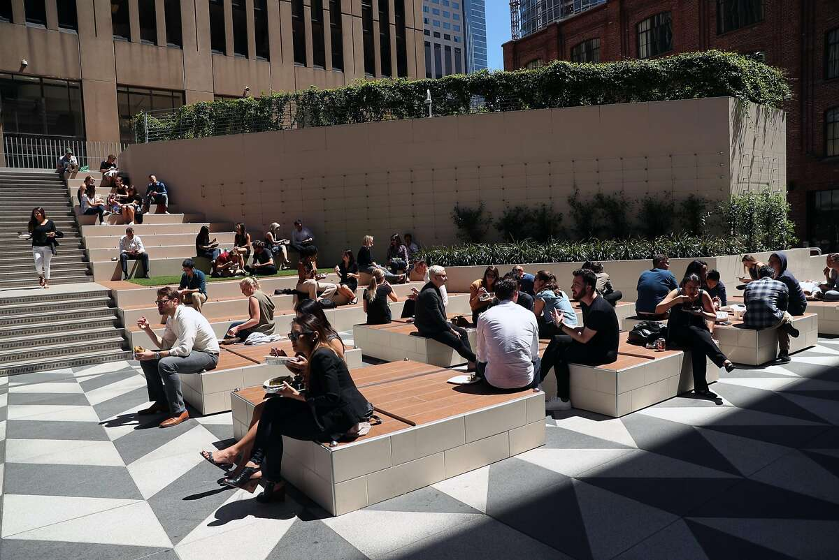 Public space at 525 Market Street in San Francisco, Calif., on Monday, May 1, 2017.