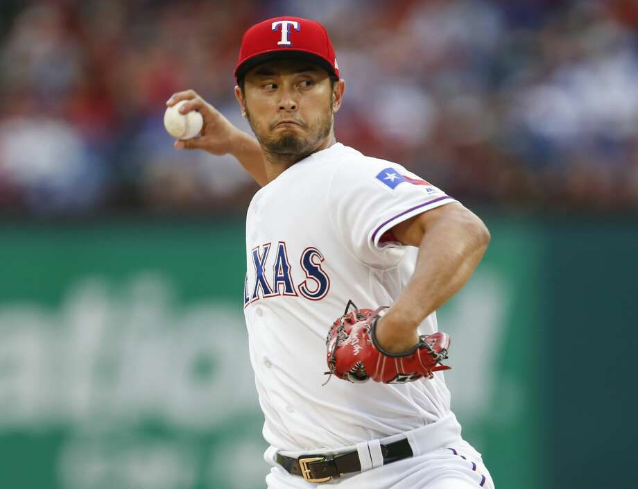 The Astros won't face the Texas Rangers' Yu Darvish this week after all. Photo: Jim Cowsert/TNS