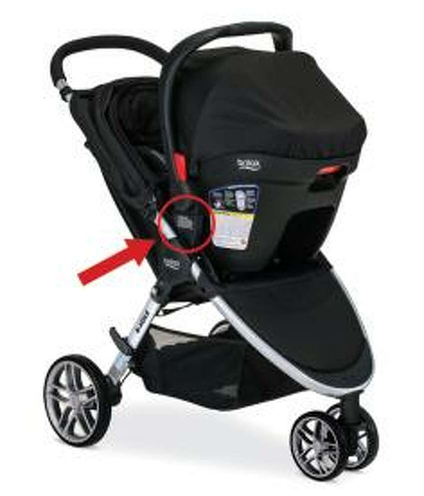 Product Name: Britax B-Agile and BOB Motion Strollers with Click & Go receivers Safety Concerns: A damaged receiver mount on the stroller can cause the car seat to disengage and fall unexpectedly, posing a fall hazard to infants in the car seat. Recall Date: Feb. 16, 2017 Source: CPSC