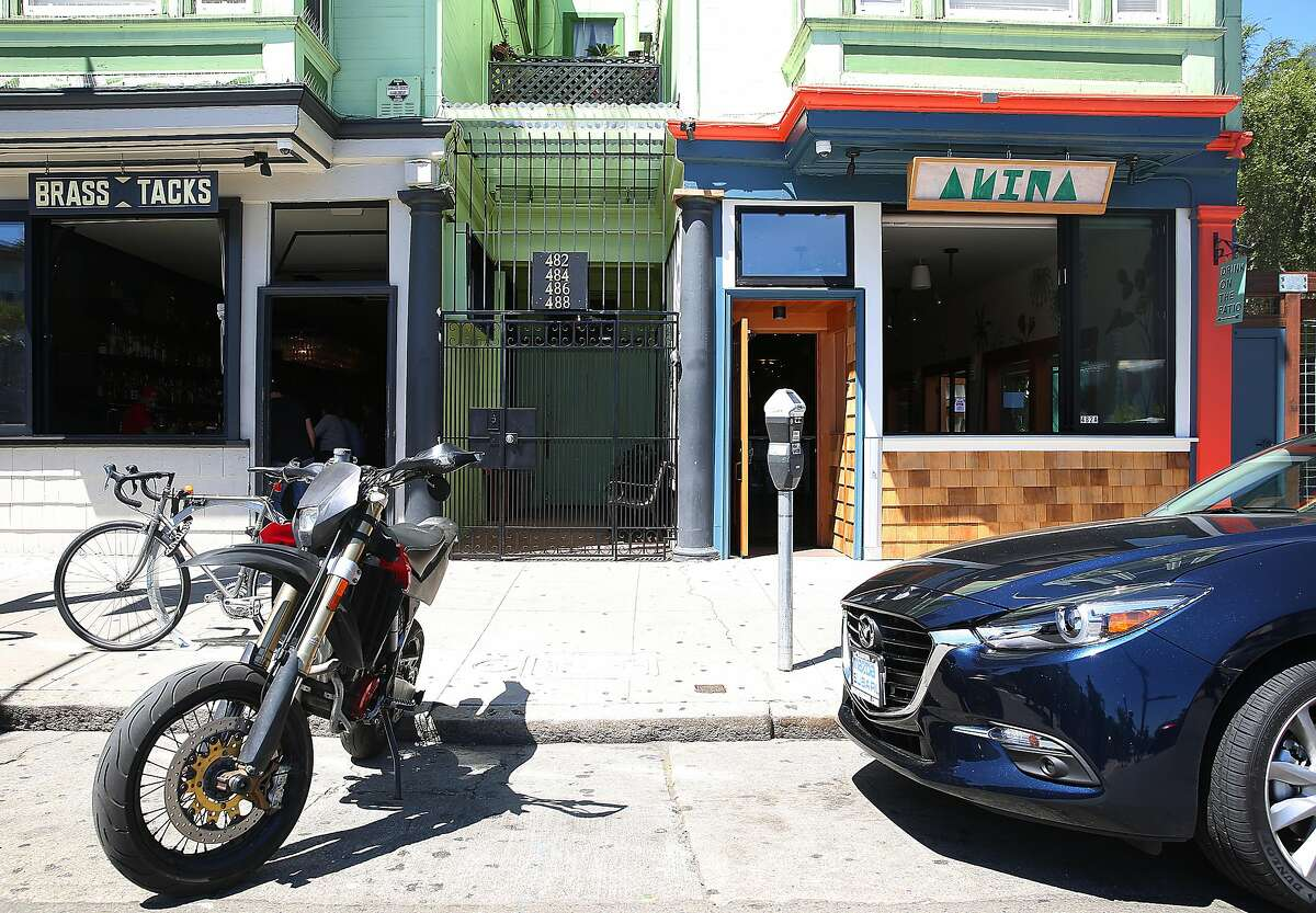 Owners of Brass Tacks (left) have just opened Anina (right) next door, a new bar in Hayes Valley on Monday, May 1, 2017, in San Francisco, Calif.