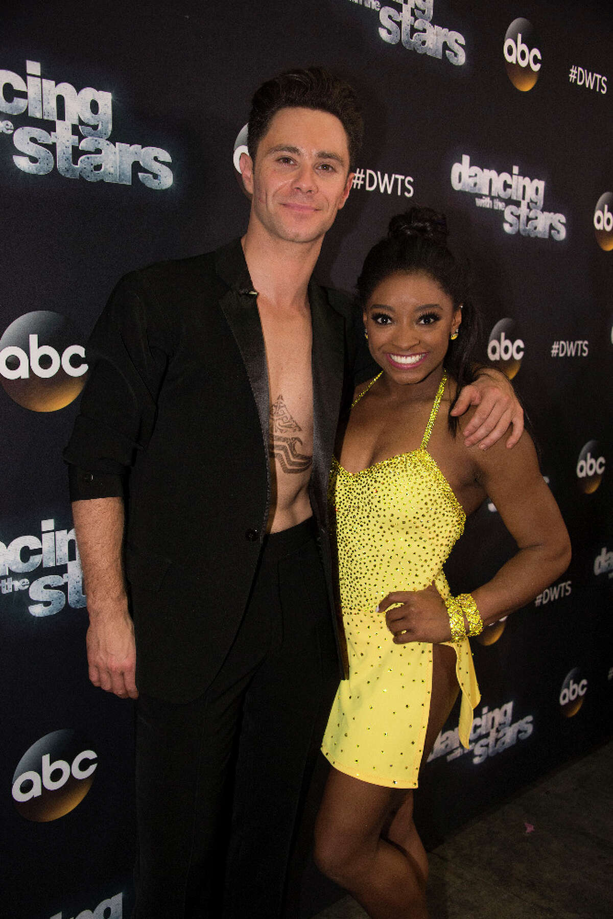 Simone Biles and Sasha Farber danced to Destiny's Child duringBoy Bands vs. Girl Groups Night on Dancing with the Stars.