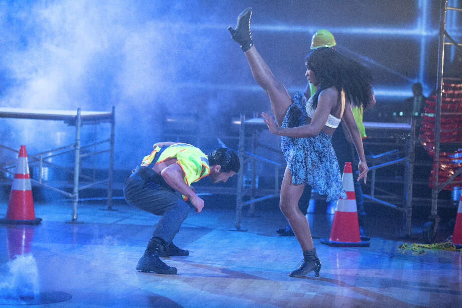 Normani Kordei and Val Chmerkovskiy danced to Pussycat Dolls during Boy Bands vs. Girl Groups Night on Dancing with the Stars. Photo: ABC / © 2017 American Broadcasting Companies, Inc. All rights reserved.