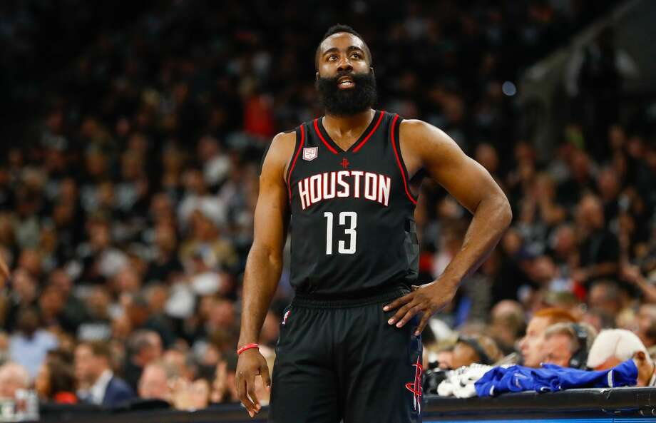 Rockets star James Harden was voted All-NBA First Team for the third time in four seasons. Moses Malone and Hakeem Olajuwon are the only other Rockets to be voted to the first team. Photo: Karen Warren/Houston Chronicle