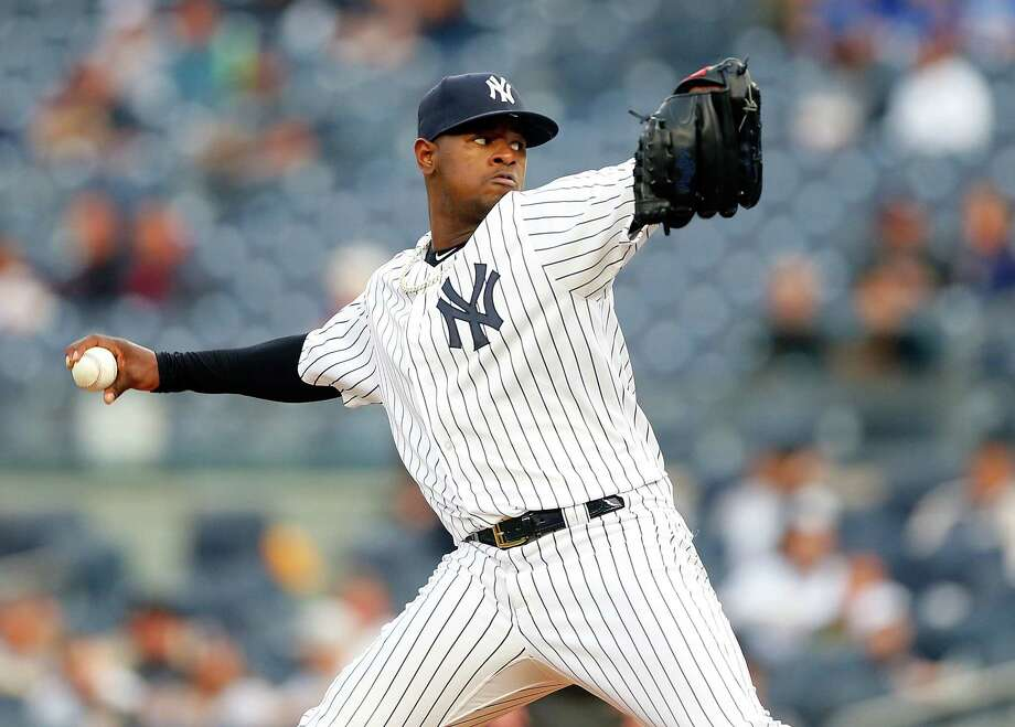 NEW YORK, NY - MAY 01:  Luis Severino #40 of the New York Yankees pitches in the first inning against the Toronto Blue Jays at Yankee Stadium on May 1, 2017 in the Bronx borough of New York City.  (Photo by Jim McIsaac/Getty Images) ORG XMIT: 700010608 Photo: Jim McIsaac / 2017 Getty Images