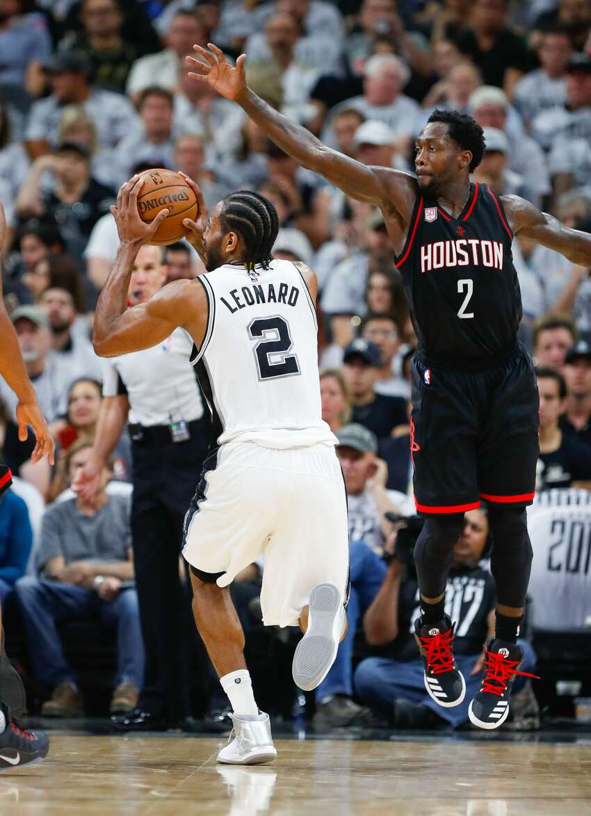 Two different shooting tales : The Spurs shot just 38.6 percent (17 of 44) on open looks, while Houston knocked down 54 percent (23 of 42) of its contested looks. Those numbers should balance out in Game 2.
