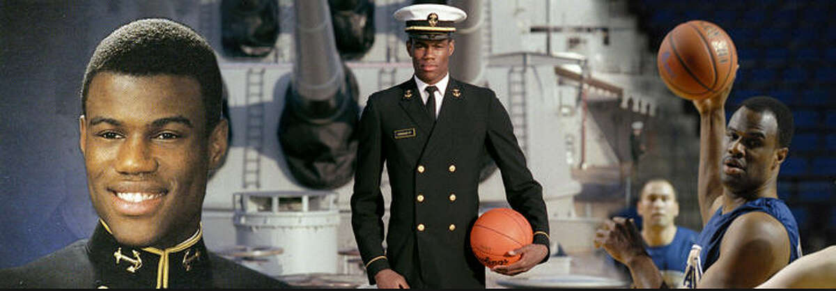 David Robinson served in the Navy for two years before he joined the San Antonio Spurs.