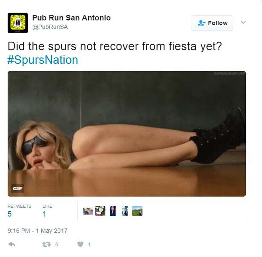 Did the spurs not recover from fiesta yet? Photo: Twitter