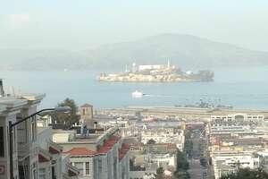 View of Alcatraz and the Marina.