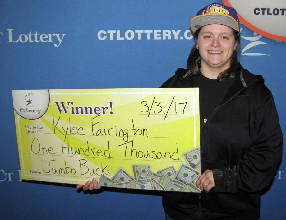 Kylee Farrington, of Ansonia, won $100,000 in the Connecticut Lottery's Jumbo Bucks game. She cashed in her ticket in April 2017 just before her 24th birthday. Photo: Contributed Photo / Contributed Photo / Connecticut Post Contributed