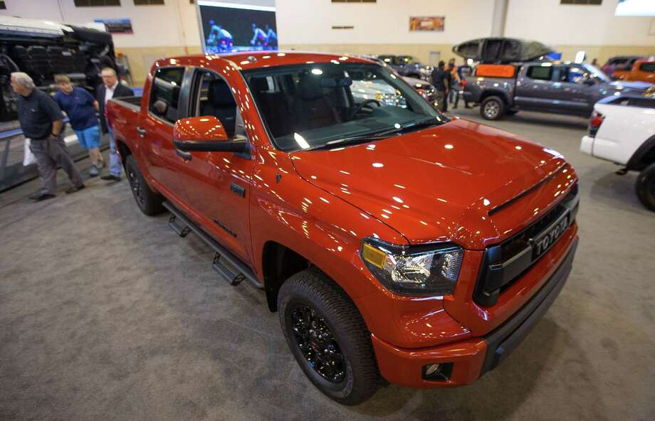 Toyota Tundra pickup sales rose 5.1 percent in October over the same month last year. Photo: Mark Mulligan /Mark Mulligan / Houston Chronicle / 2017 Mark Mulligan / Houston Chronicle