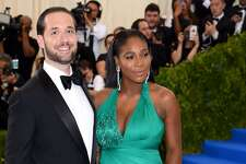 NEW YORK, NY - MAY 01: Alexis Ohanian and Serena Williams attend the 'Rei Kawakubo/Comme des Garcons: Art Of The In-Between' Costume Institute Gala at the Metropolitan Museum of Art on May 1, 2017 in New York City. (Photo by Karwai Tang/WireImage)